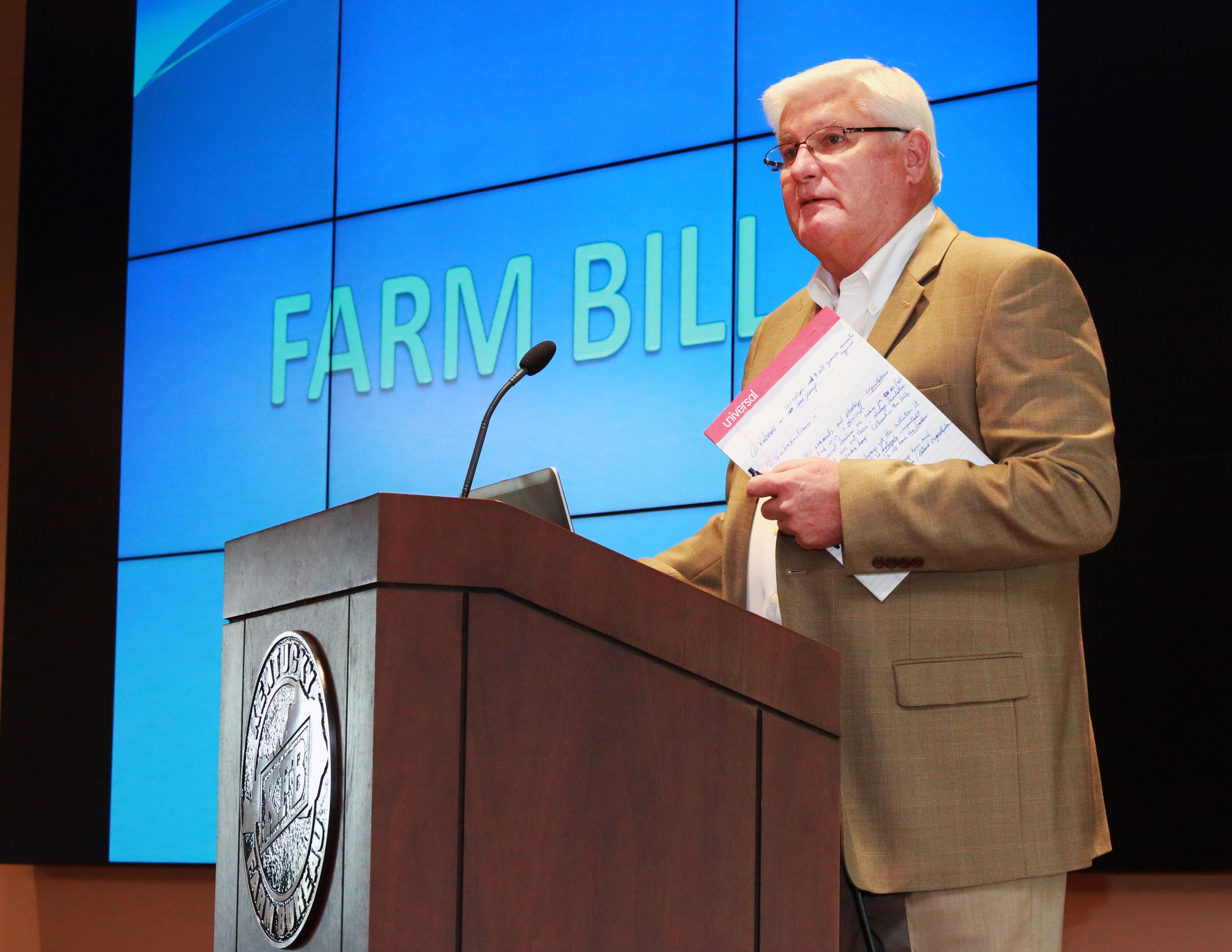 KFB President Mark Haney addressed the first meeting of the Farm Bill Working Group.