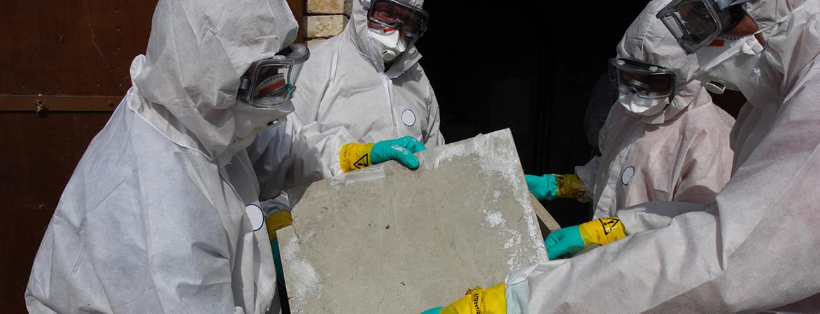 Asbestos storm cleanup