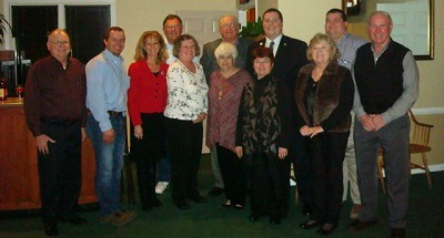 From Left: John Alcott, President Jeremy Robertson, State Representative Martha Jane King, Doug Milliken, Karen Milliken, Frances Brown, Bradley Brown, Myra Alcott, State Senator Whitney Westerfield, Carrel Hughes, Daniel Gaston and Jerry Hughes