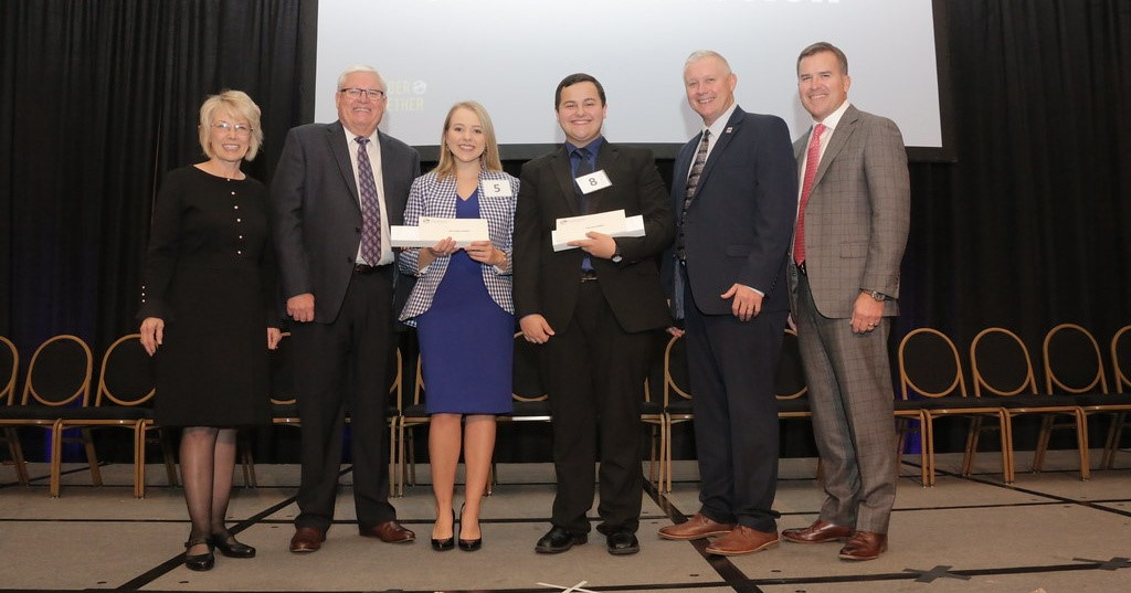 Madison Goodlett of Spencer County and Dylan Driskell of Garrard County were awarded top honors in the 2019 Outstanding Farm Bureau Youth contest