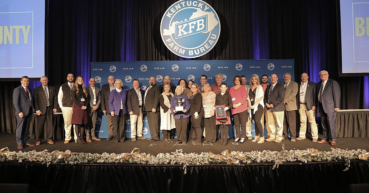 Butler County Farm Bureau was honored as Kentucky Farm Bureau's (KFB) Top County in 2019.