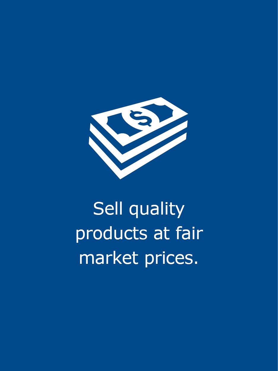 Sell Quality Products