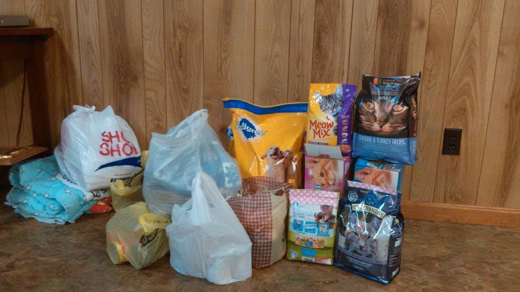 Collection Of Items For Local Animal Shelter Kentucky Farm Bureau