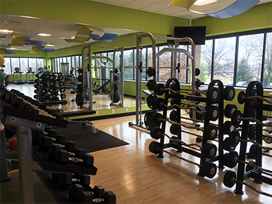 The State Office features an on-site state-of-the-art fitness center