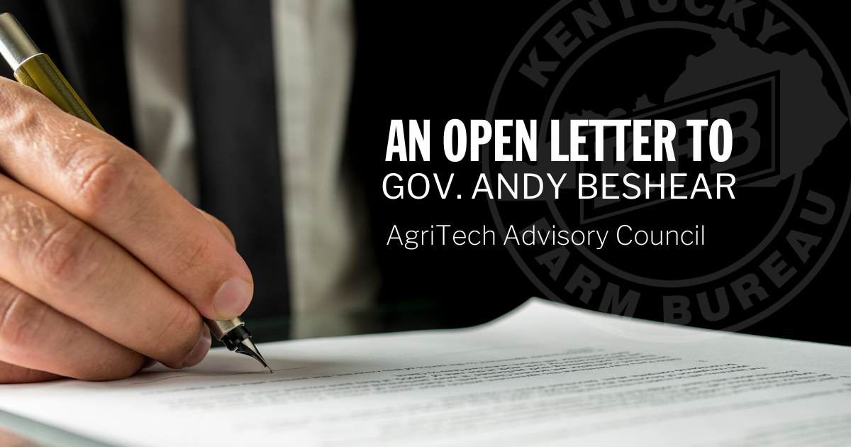 Open Letter to Governor Andy Beshear