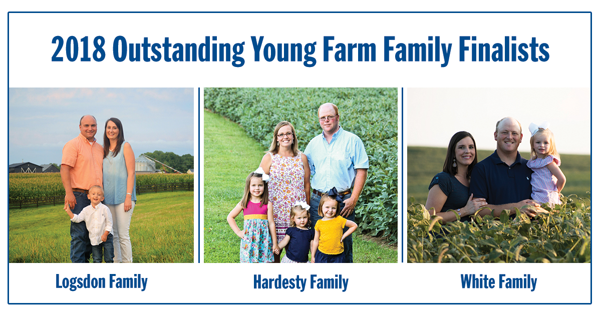 Finalists Named for the 2018 Outstanding Young Farm Family Award