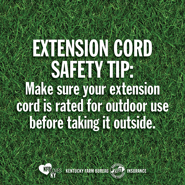 8 tips for extension cord safety kentucky farm bureau. Black Bedroom Furniture Sets. Home Design Ideas