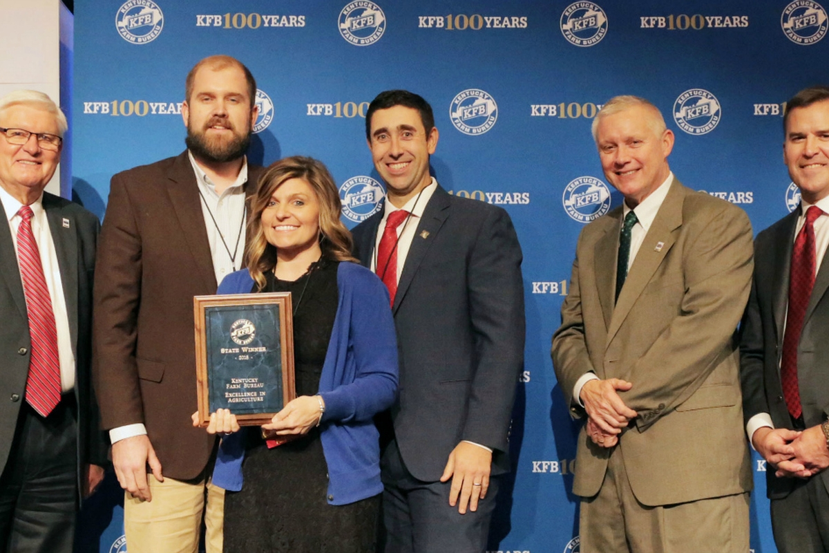 Ben and Savannah Robin from Bourbon County Win Excellence in Agriculture Award